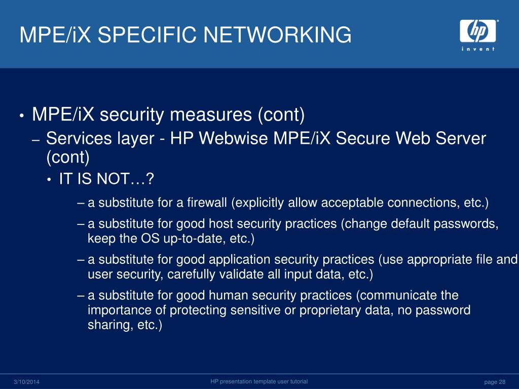 MPE/iX SPECIFIC NETWORKING