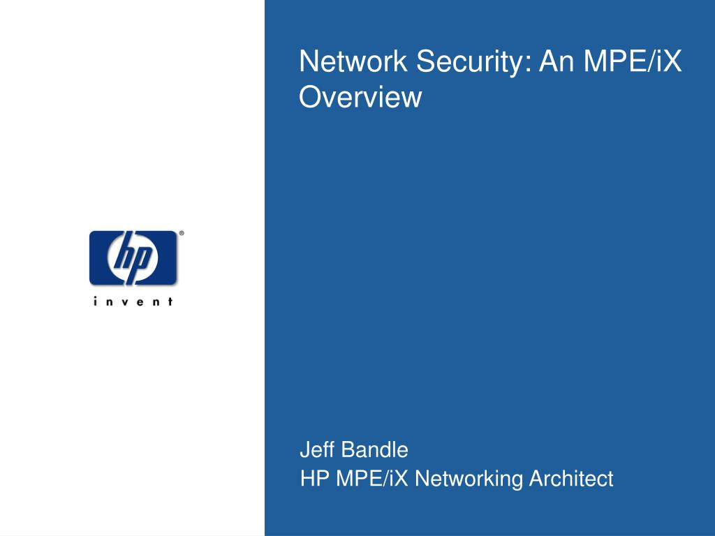 Network Security: An MPE/iX Overview