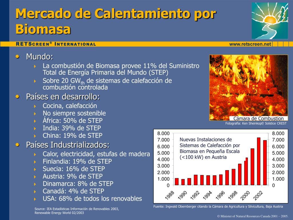 Mercado de Calentamiento por Biomasa