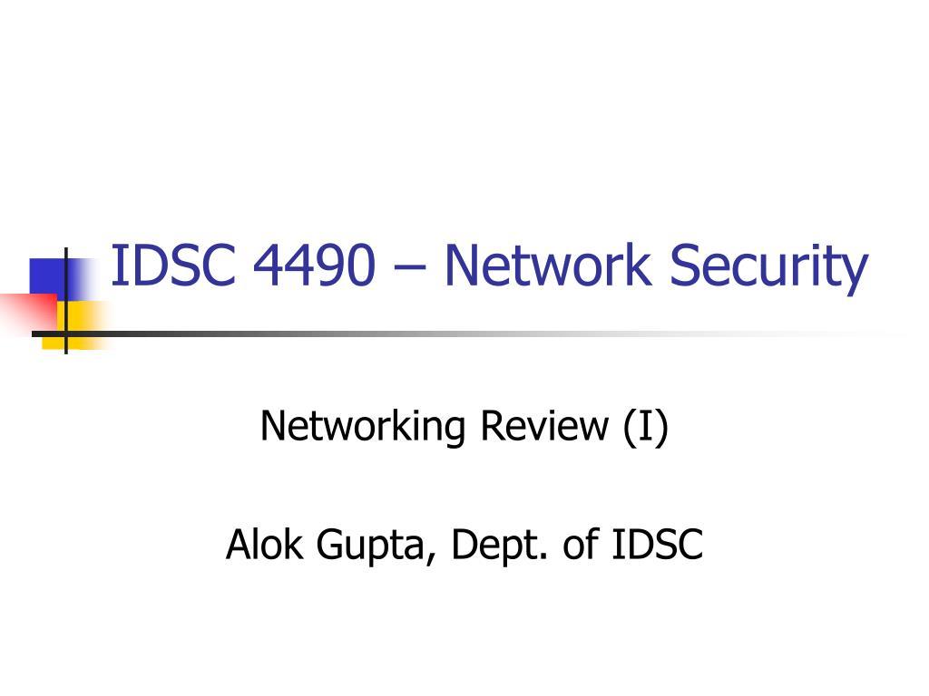 IDSC 4490 – Network Security