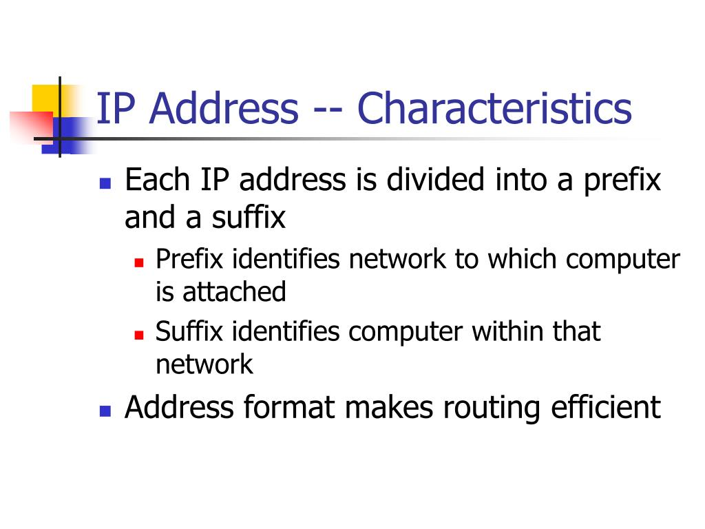 IP Address -- Characteristics