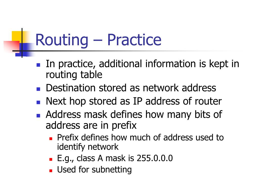 Routing – Practice