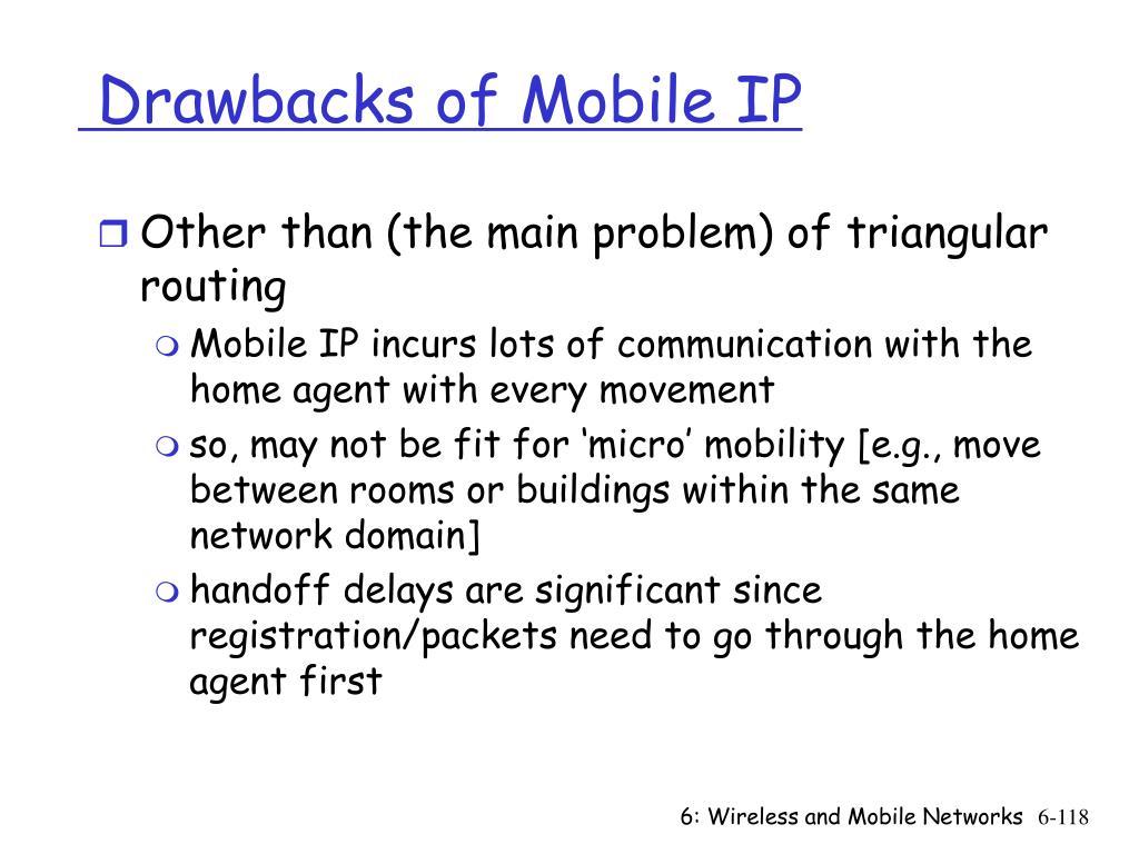Drawbacks of Mobile IP