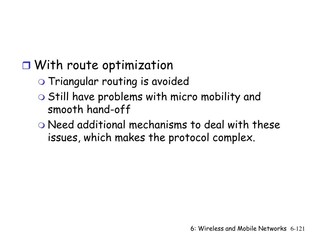 With route optimization