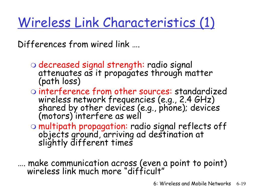 Wireless Link Characteristics (1)