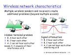 wireless network characteristics