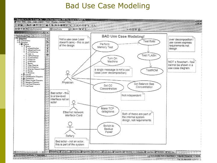 Bad Use Case Modeling