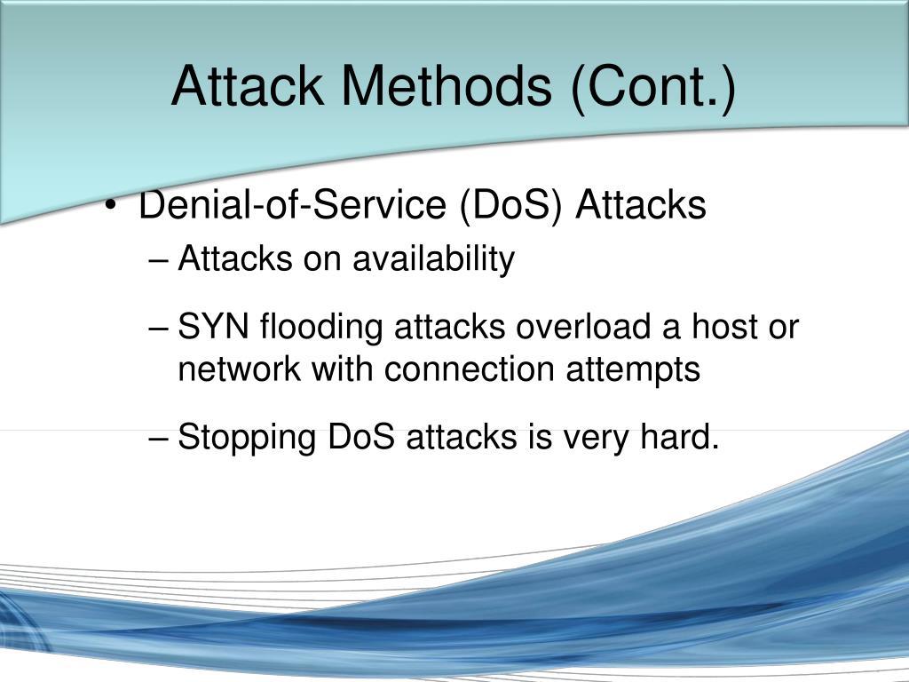 Attack Methods (Cont.)