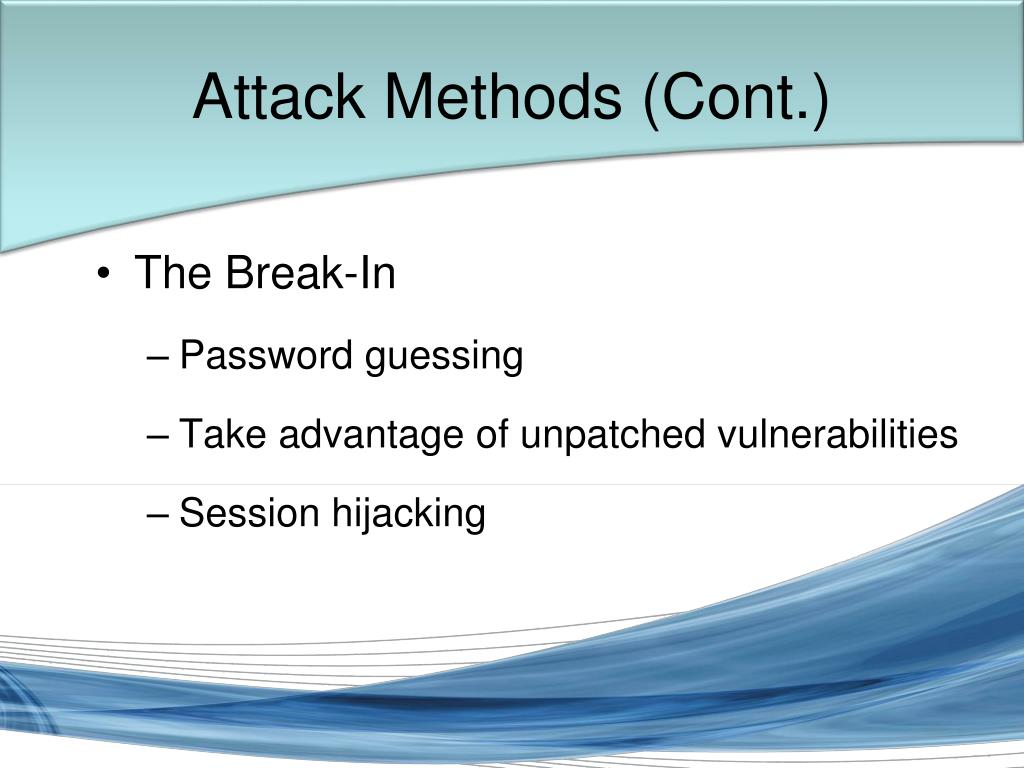 Attack Methods (Cont.)