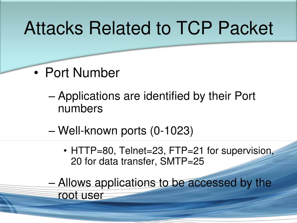 Attacks Related to TCP Packet
