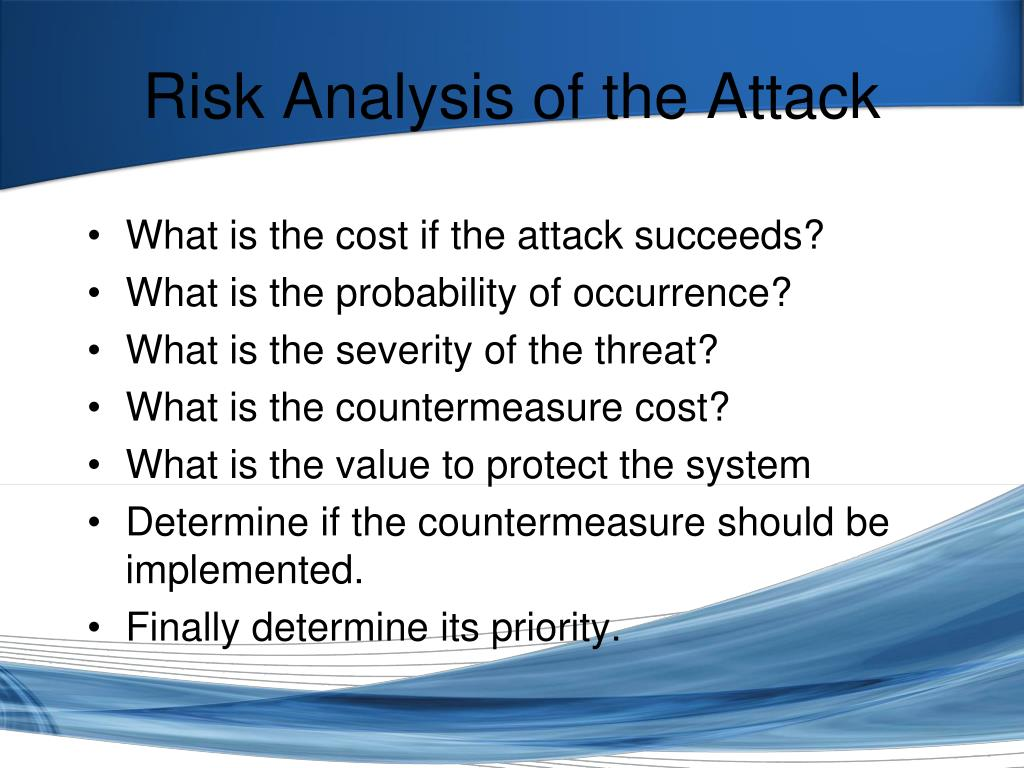 Risk Analysis of the Attack