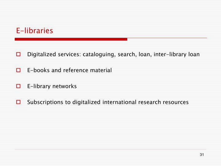 E-libraries