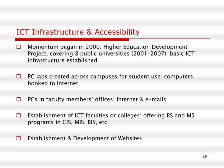 ICT Infrastructure & Accessibility