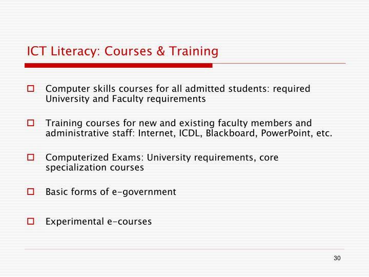 ICT Literacy: Courses & Training