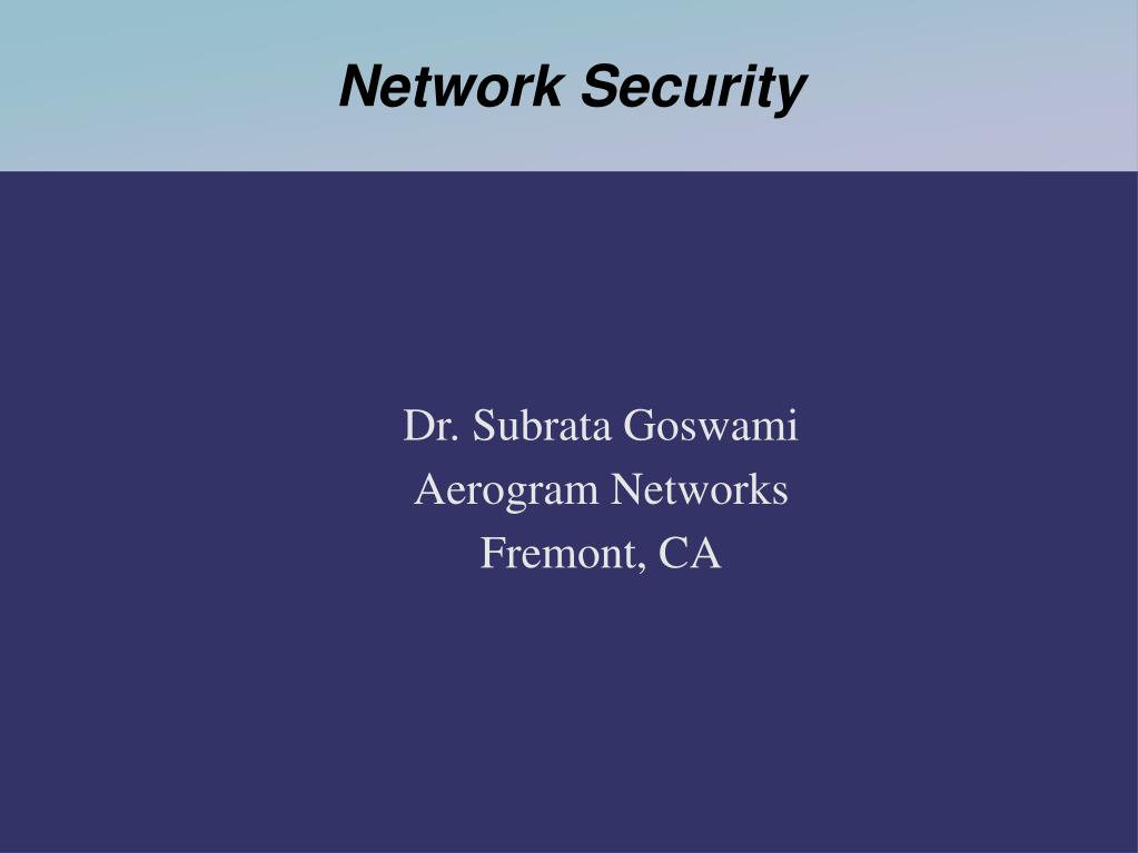 Dr. Subrata Goswami