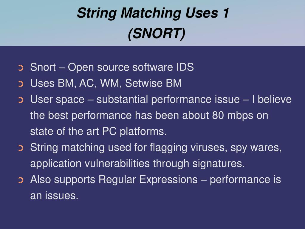 String Matching Uses 1