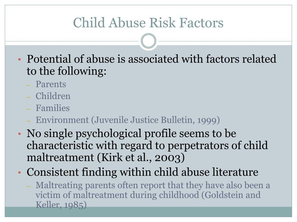 Child Abuse Risk Factors