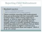 reporting child maltreatment