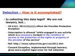 detection how is it accomplished13