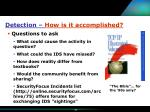 detection how is it accomplished27