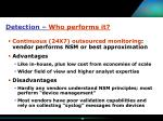 detection who performs it36
