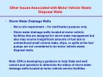 other issues associated with motor vehicle waste disposal wells1