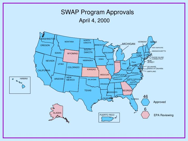SWAP Program Approvals