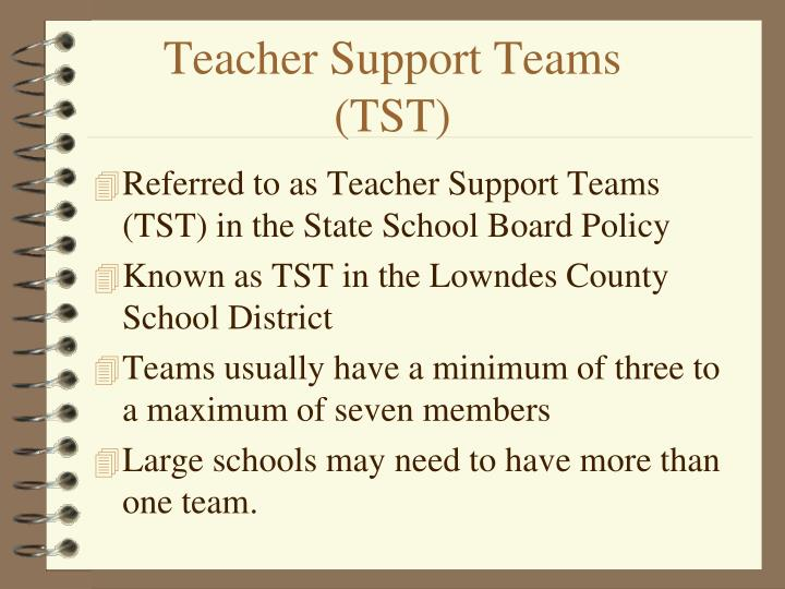 Teacher Support Teams