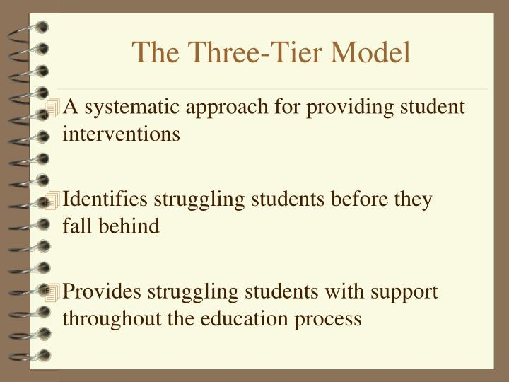 The three tier model