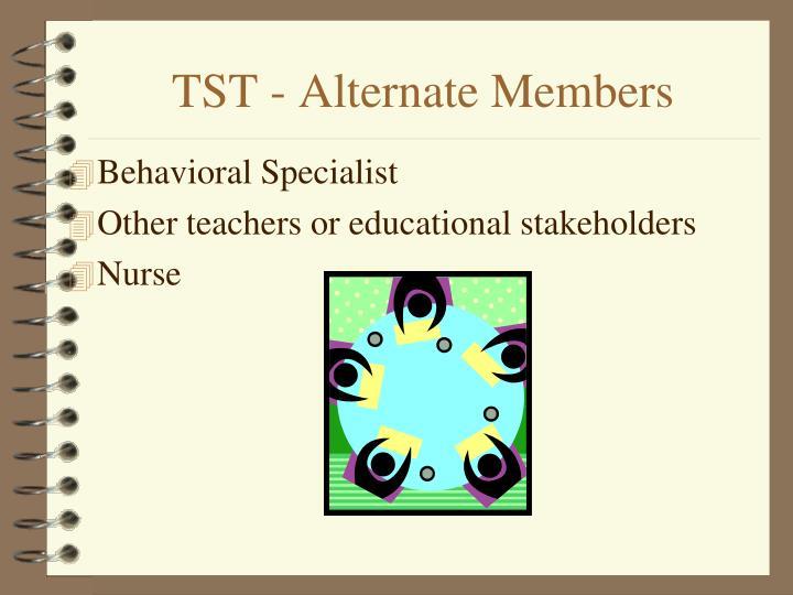 TST - Alternate Members