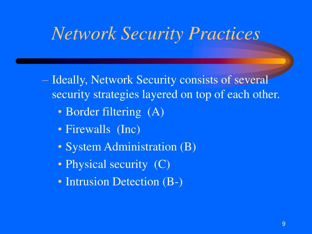 Network Security Practices