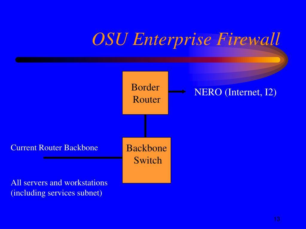 OSU Enterprise Firewall