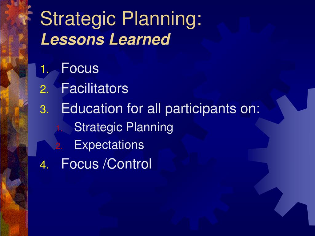 Strategic Planning: