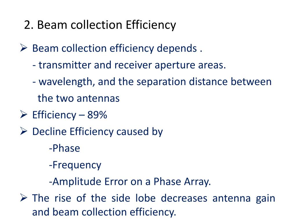 2. Beam collection Efficiency