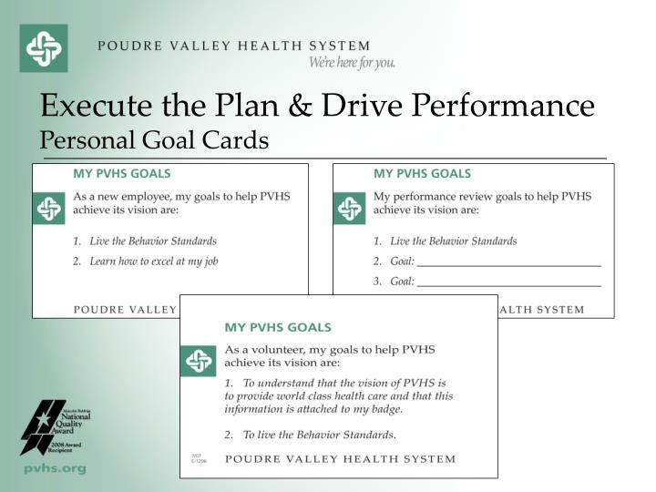 Execute the Plan & Drive Performance