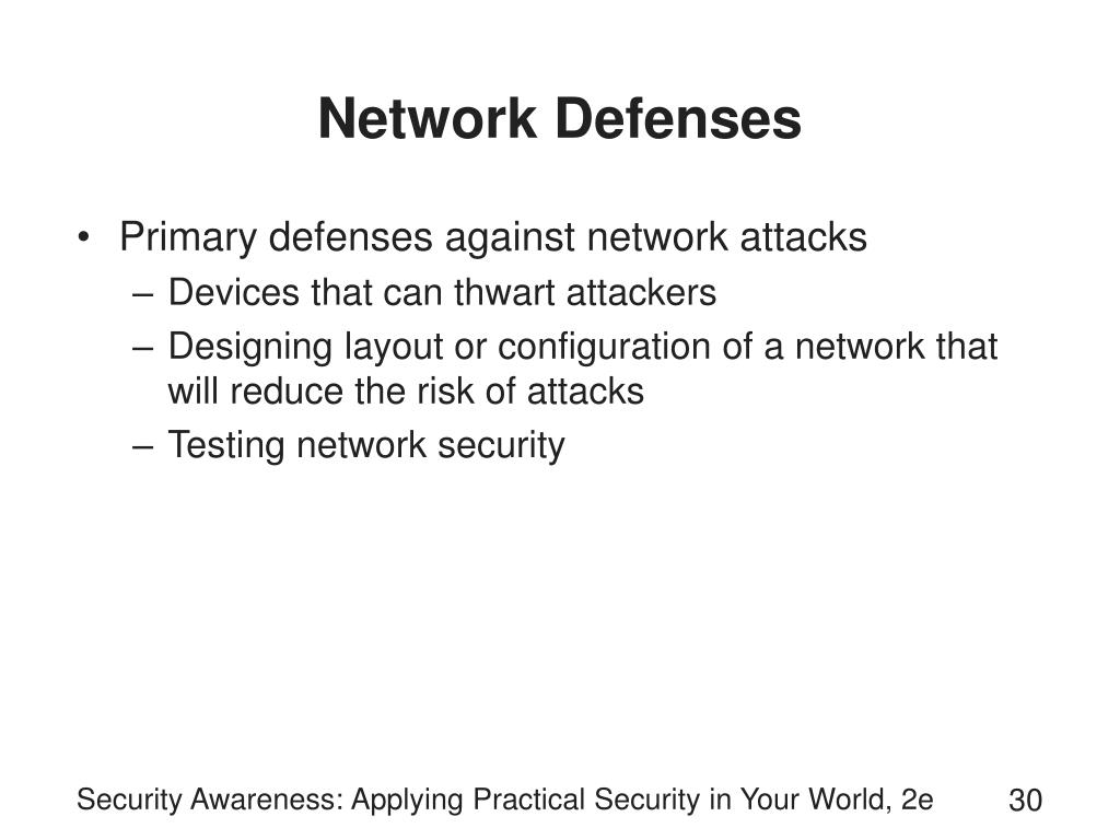 Network Defenses