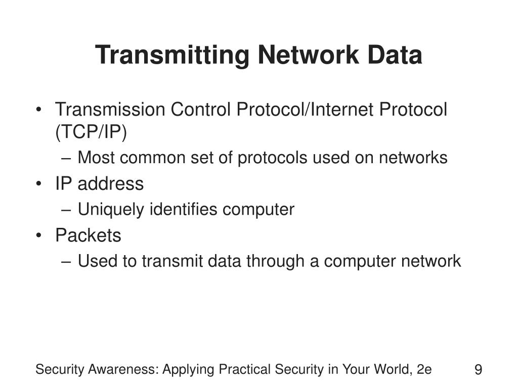 Transmitting Network Data