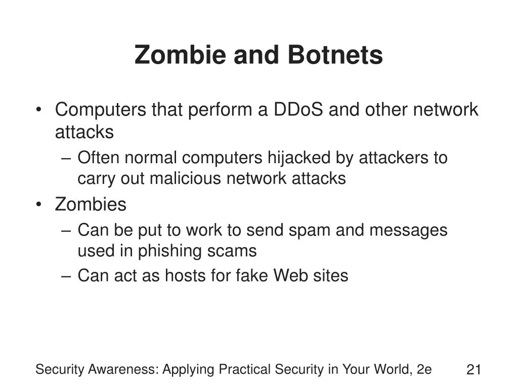 Zombie and Botnets