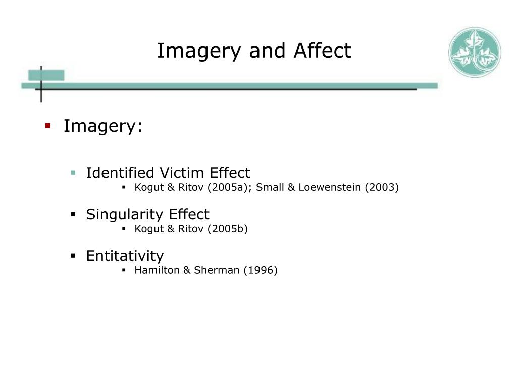 Imagery and Affect