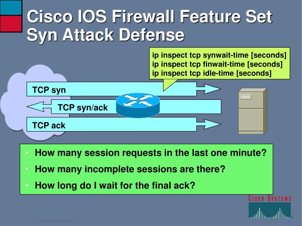 Cisco IOS Firewall Feature Set Syn Attack Defense