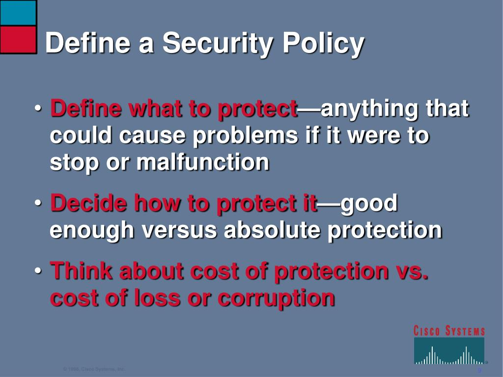 Define a Security Policy