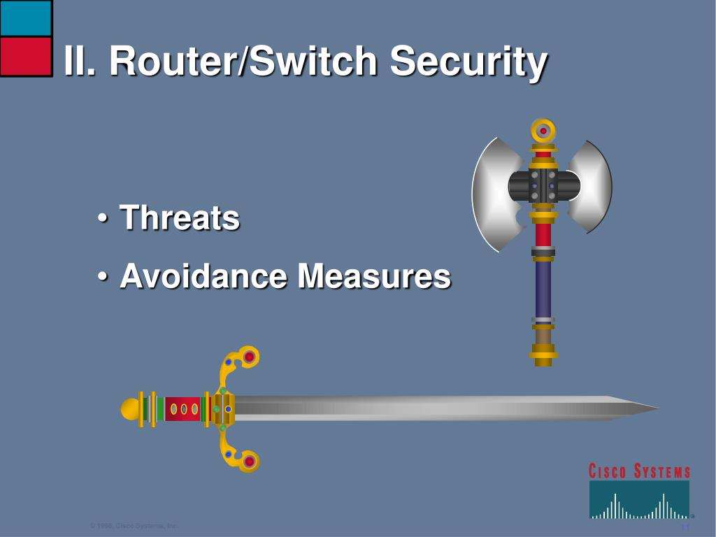 II. Router/Switch Security