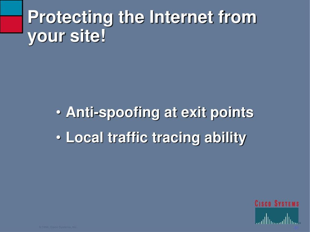 Protecting the Internet from your site!