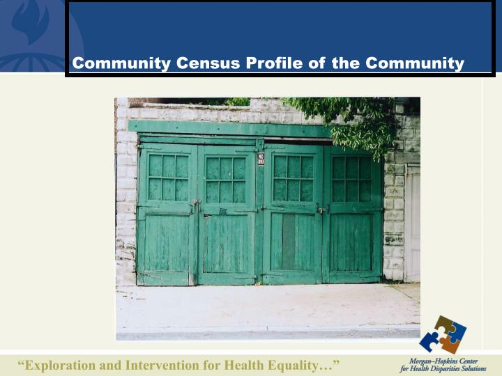Community Census Profile of the Community