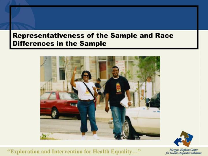 Representativeness of the Sample and Race Differences in the Sample