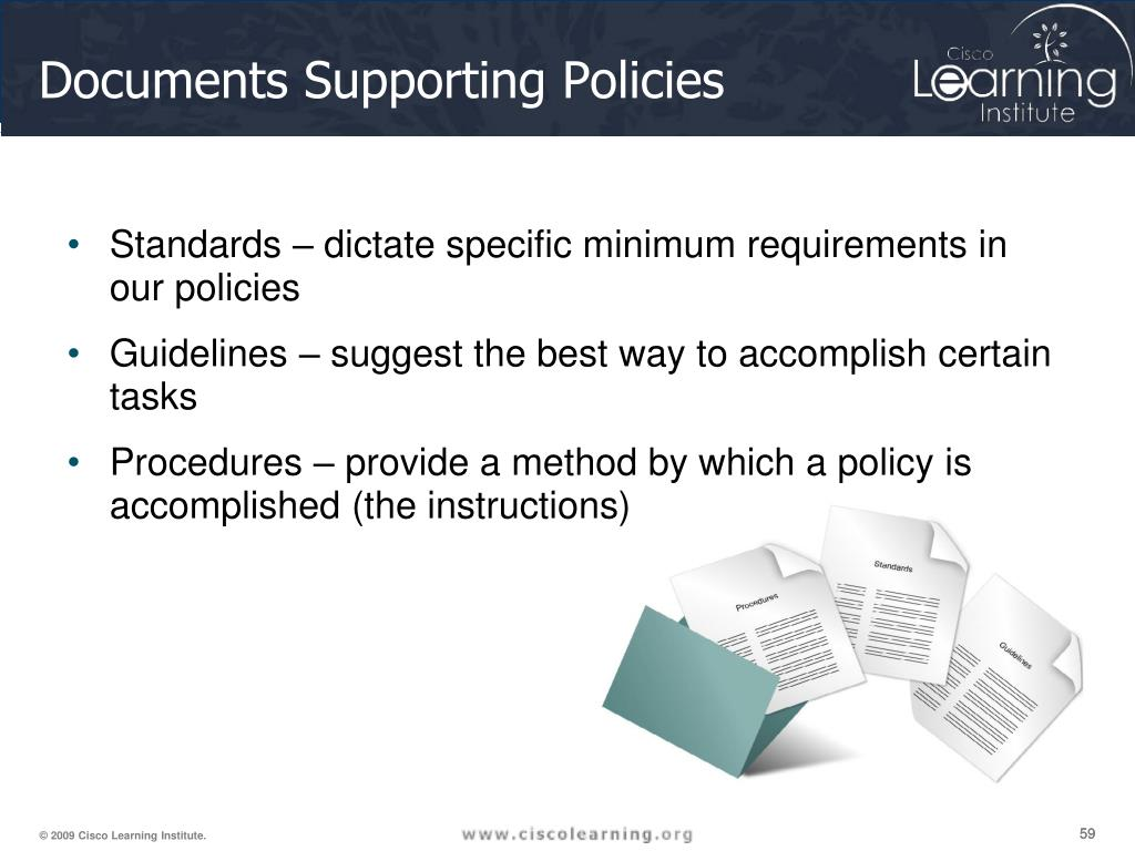 Documents Supporting Policies