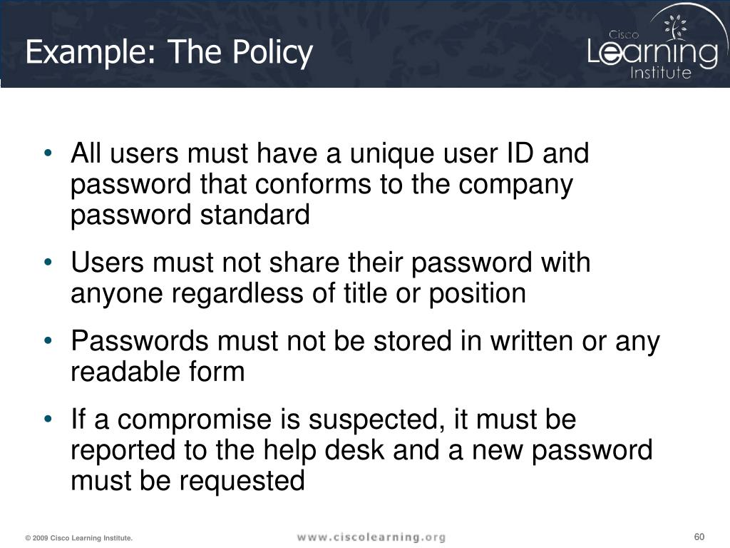 Example: The Policy