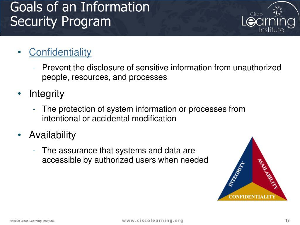 Goals of an Information