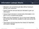 information leakage attacks