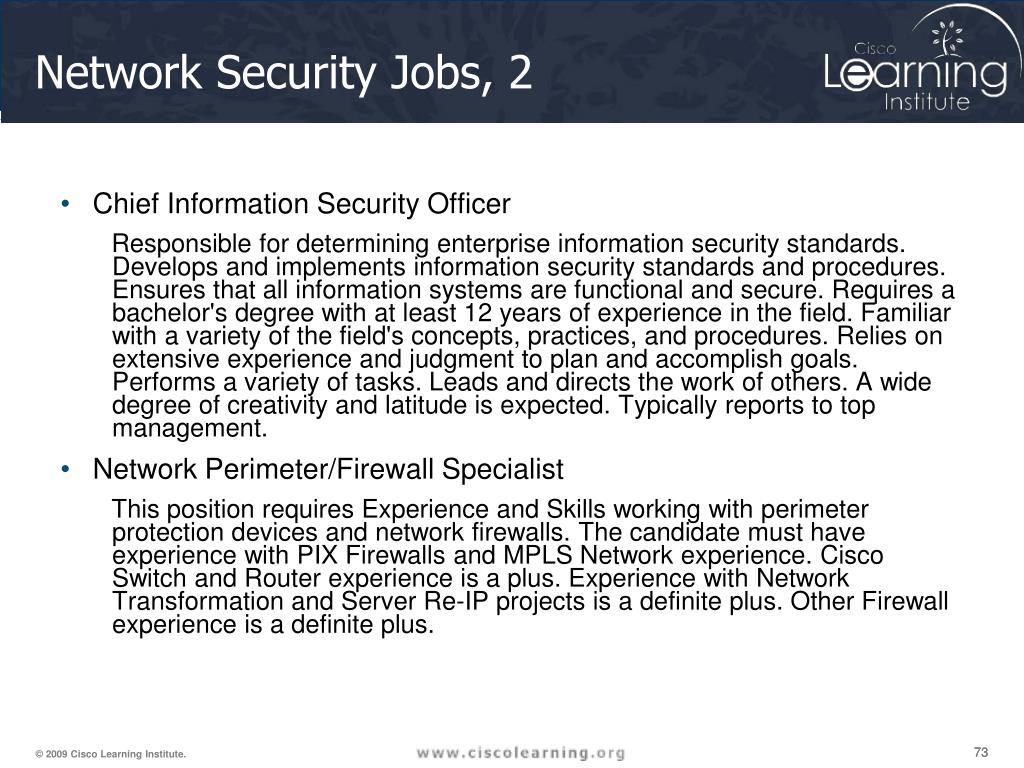 Network Security Jobs, 2